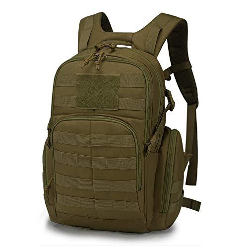 Mardingtop Tactical Backpack 6 Mardingtop Bundle Items: 25L Molle Hiking Tactical Backpack Khaki