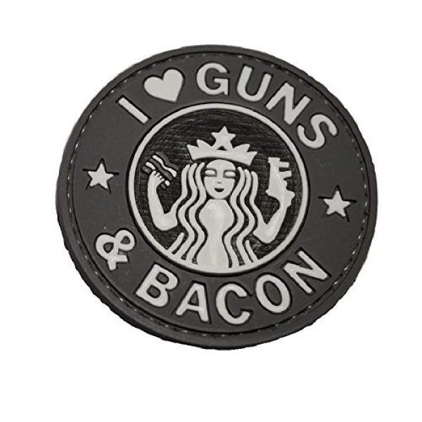 The Tactical Medic Airsoft Morale Patch 1 The Tactical Medic I Love Guns and Bacon PVC Morale Patch (Gray Scale)
