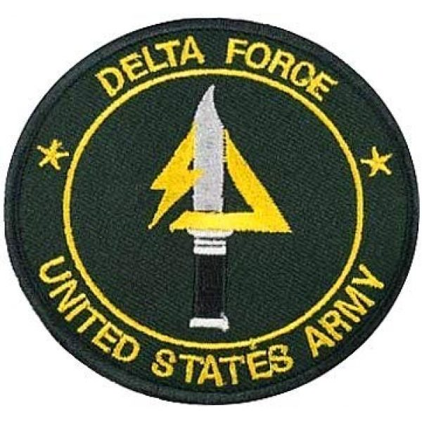 Embroidery Patch Airsoft Morale Patch 1 US Delta Forces Military Hook Loop Tactics Morale Embroidered Patch