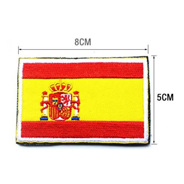 Tactical Embroidery Patch Airsoft Morale Patch 2 2pcs Spain Flag Embroidery Patch Military Tactical Morale Patch Badges Emblem Applique Hook Patches for Clothes Backpack Accessories