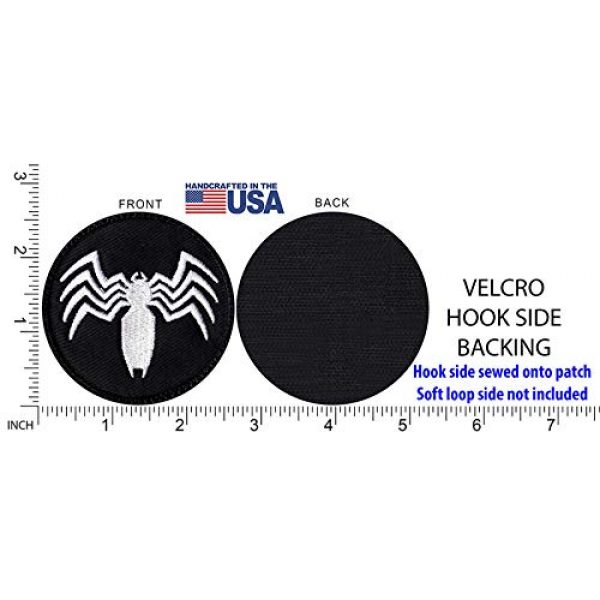 Tactical Patch Works Airsoft Morale Patch 5 Venom Spider Shape Logo Patch