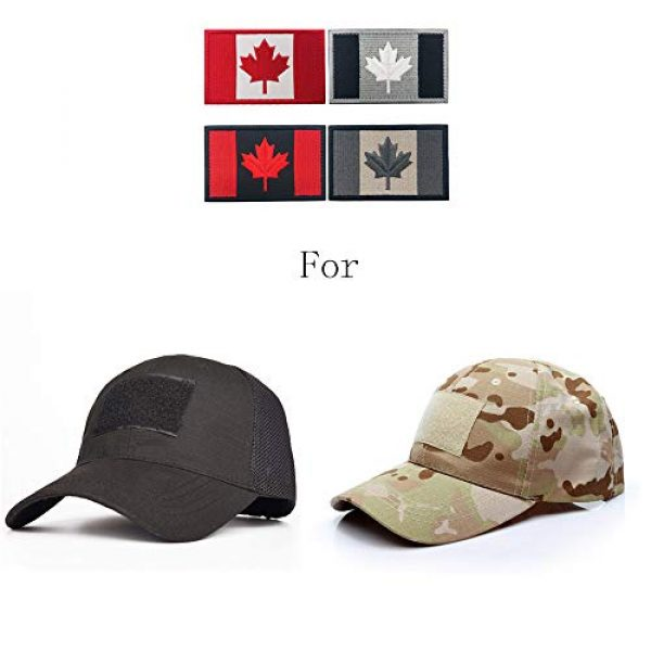 Heyqie Airsoft Morale Patch 7 2 Pieces Canada Flag Patches, Canadian Flag Patch 3.1 X 2.0 Inch Velcro Patches Morale Military Uniform Emblem Patch Iron-on Patch for Tactical Backpacks Bags Clothes Jackets Hats