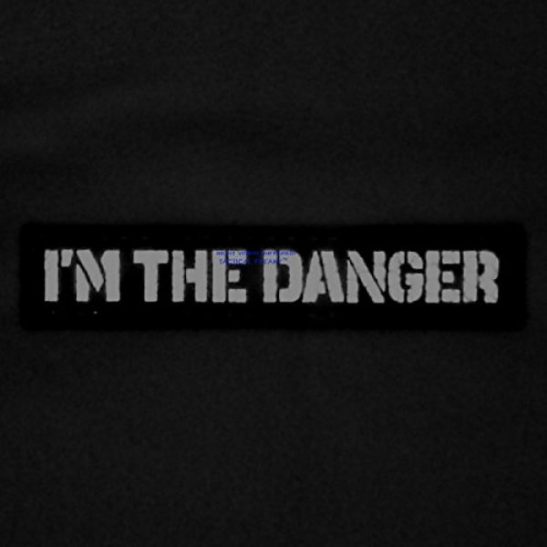 Tactical Freaky Airsoft Morale Patch 2 IR I am The Danger 1x5 Multicam Infrared Name Tag Callsign Morale Tactical Fastener Patch