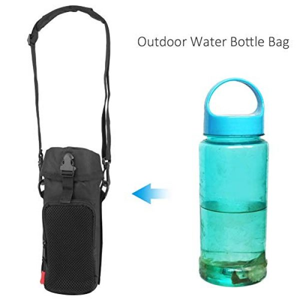 VGEBY Tactical Pouch 5 VGEBY Outdoor Water Bottle Bag Waterproof Outdoor Tactics Water Bottle Bag Pouch Hydration Carrier Sport Bag for Camping Hiking Fishing