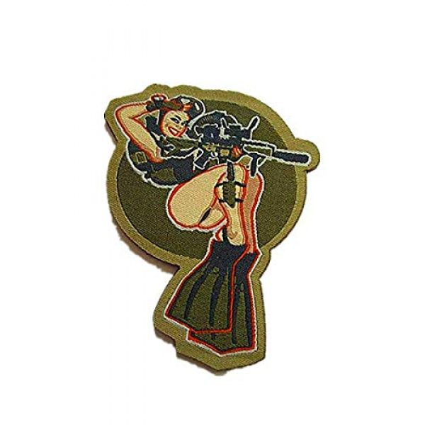 Embroidery Patch Airsoft Morale Patch 1 Dive Girl Pinup Marine Military Hook Loop Tactics Morale Embroidered Patch