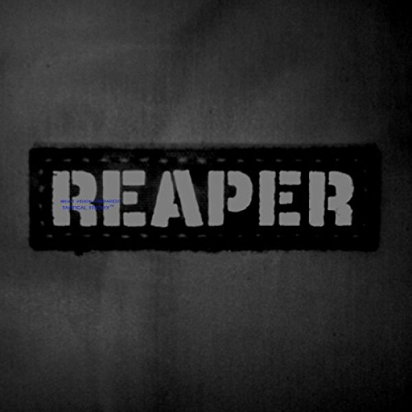 Tactical Freaky Airsoft Morale Patch 4 Reaper 1x3.5 Multicam Infrared Name Tape Tab IFF Morale Fastener Patch