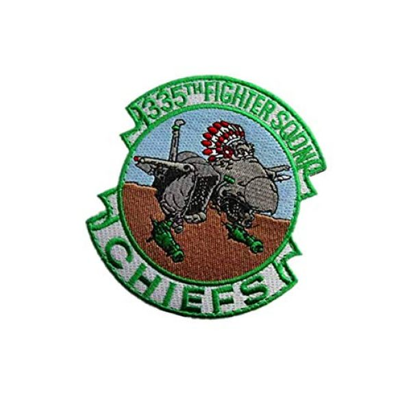 Embroidery Patch Airsoft Morale Patch 3 335th Tactical Fighter Squadron Chiefs Air Force Military Hook Loop Tactics Morale Embroidered Patch