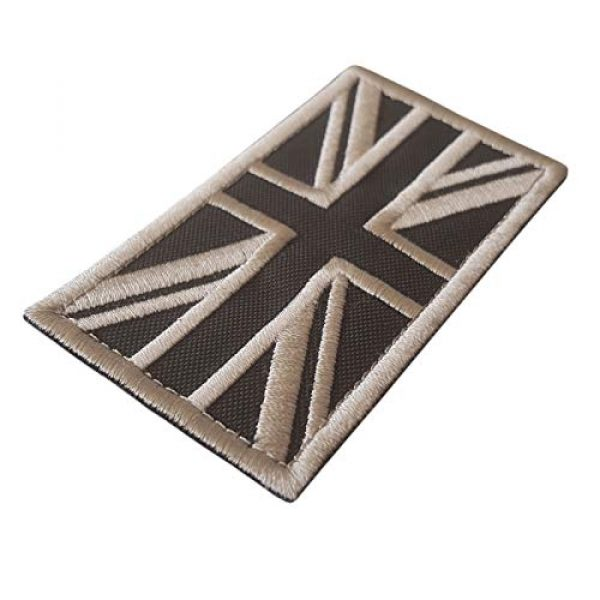 LEGEEON Airsoft Morale Patch 2 LEGEEON Subdued Tan Arid Great Britain UK Union Jack Flag Morale Tactical Badge Army Embroidery Hook-and-Loop Patch