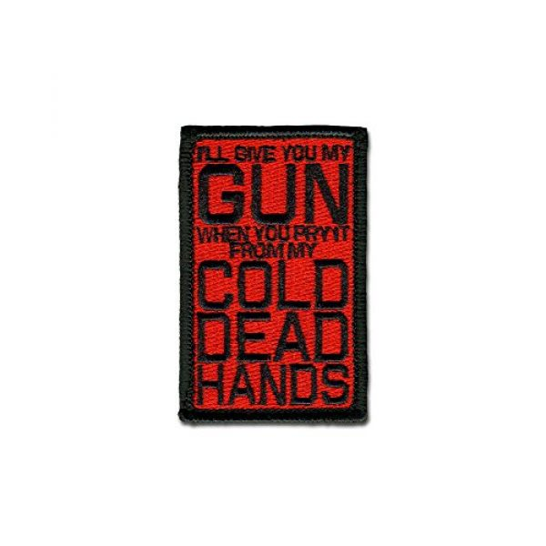 BASTION Airsoft Morale Patch 1 BASTION Morale Patches (Cold Dead Hands, Red) | 3D Embroidered Patches with Hook & Loop Fastener Backing | Well-Made Clean Stitching, Military Patches Ideal for Tactical Bag, Hats & Vest