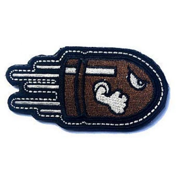 Embroidery Patch Airsoft Morale Patch 1 Angry Flying Bullet Military Hook Loop Tactics Morale Embroidered Patch