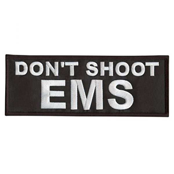 LEGEEON Airsoft Morale Patch 1 LEGEEON Don't Shoot EMS Large XL 10x4 inch Medic Paramedic Embroidery Fastener Patch