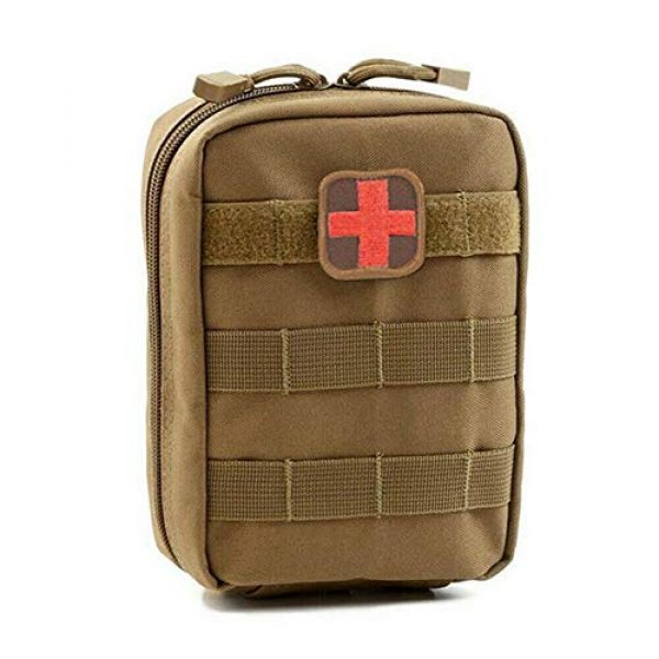 ASATechmed Tactical Pouch 1 ASATechmed Tactical Military MOLLE First Aid IFAK Utility EMT Medical Pouch (Bag Only) Ideal Gift for First Responder, EMT, Paramedics, Soldiers, Police and More