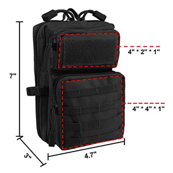 AMYIPO Tactical Pouch 2 AMYIPO MOLLE Pouch Multi-Purpose Compact Tactical Waist Bags Small Utility Pouch Mini Pocket