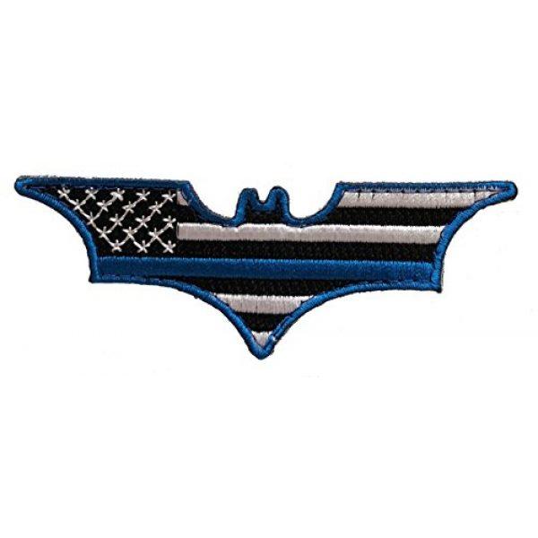 PakedDeals Airsoft Morale Patch 1 Batman Thin Blue Line Morale Patch Police Law Enforcement