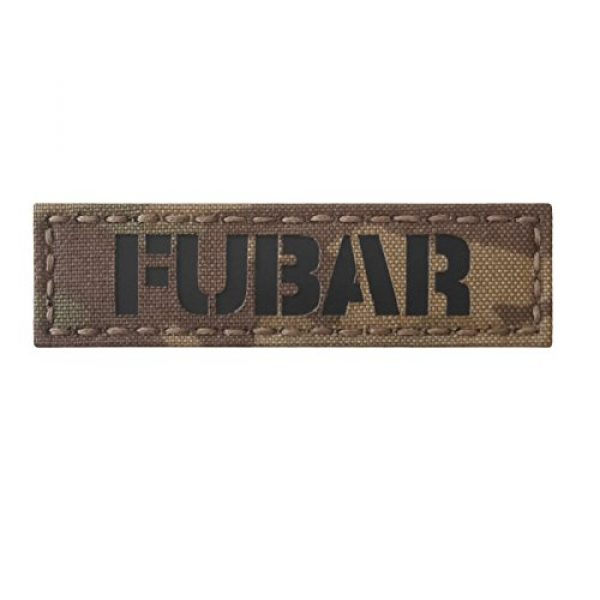 Tactical Freaky Airsoft Morale Patch 1 Fubar 1x3.5 Multicam Infrared Name Tape Tab Callsign IFF Morale Hook-and-Loop Patch