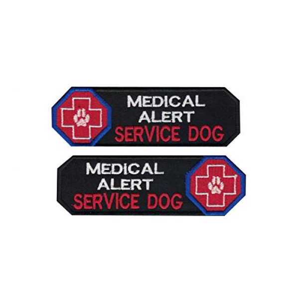 DREAM ARMY Airsoft Morale Patch 1 Dog Patch Medical Alert Service Dog Embroidered Morale Patch Hook Backing for Dogs and Pets (Blue)