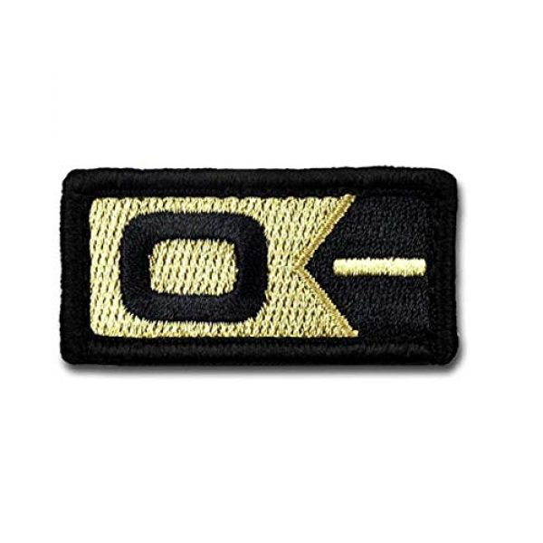 BASTION Airsoft Morale Patch 1 BASTION Morale Patches (Blood Type O Neg, ACU)   3D Embroidered Patches with Hook & Loop Fastener Backing   Well-Made Clean Stitching   Military Patches for Tactical Bag, Hats & Vest