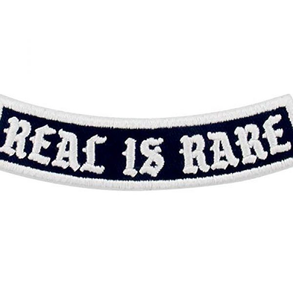 EmbTao Airsoft Morale Patch 2 Real is Rare Patch Embroidered Biker Applique Iron On Sew On Emblem