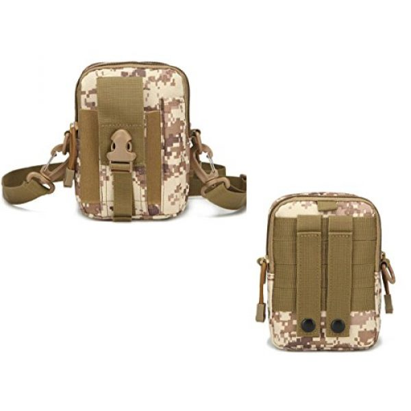 Ailuner Tactical Pouch 6 Tactical Molle Waist Bags, Waterproof Pouch, Universal Men's Outdoor Sport Casual Waist Pack Coin Purse Gear Holster Utility Pouch Phone Case (Desert)