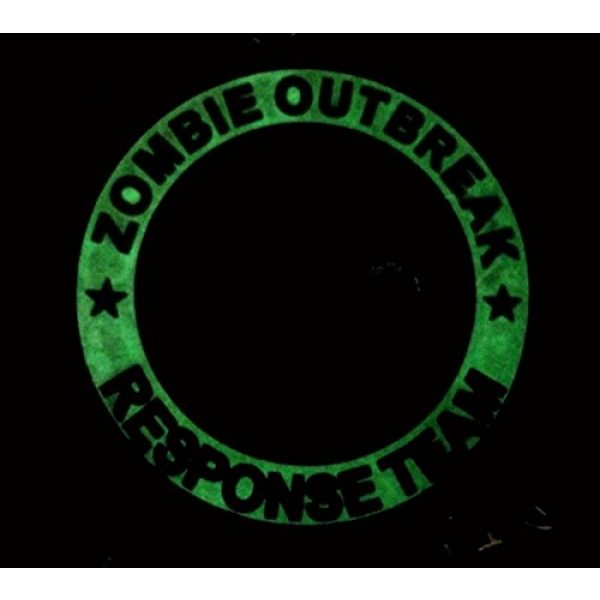 Britkit Airsoft Morale Patch 3 Green PVC Glow in the Dark Zombie Hunting Apocalypse Response Team Permit Tactical Morale Patch(hook/loop) Backed