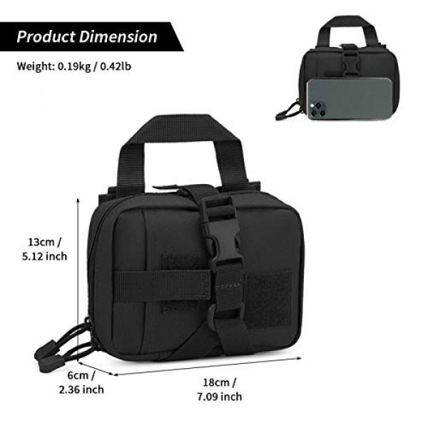 BAIGIO Tactical Pouch 2 Small Tactical Pouch MOLLE System First Aid Kit Bag IFAK Medical Utility Bag Pocket for Home Workplace Outdoor