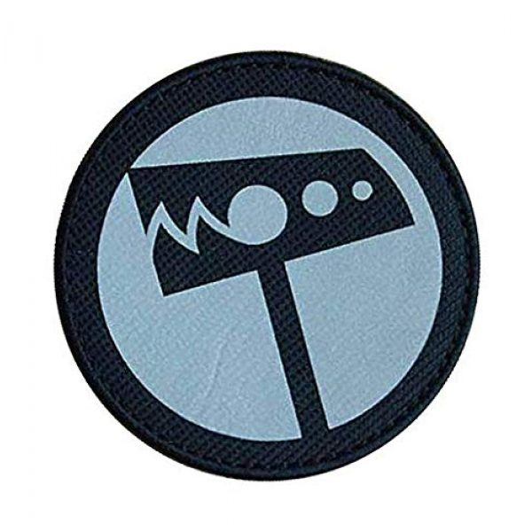 """Embroidery Patch Airsoft Morale Patch 3 SCP Foundation Special Containment Procedures Foundation SCP Mobile Task Forces Nu-7 Hammer Down"""" Military Hook Loop Tactics Morale Reflective Patch"""