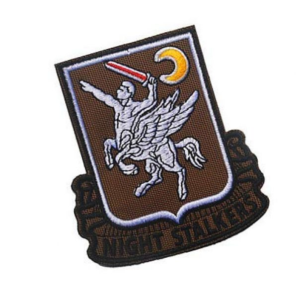 Embroidery Patch Airsoft Morale Patch 2 160th SOAR Night Stalkers Airborne Regiment Operation Military Hook Loop Tactics Morale Embroidered Patch (color2)