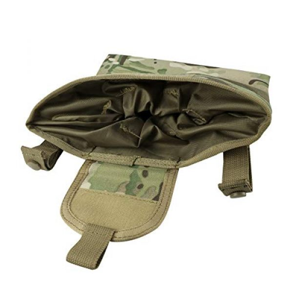 """Aoutacc Tactical Pouch 7 Aoutacc Foldable MOLLE Magazine Dump Pouch, 10""""x11.4"""" Roll-Up Pouch Folding Mag Dump Pouch Tactical Drawstring Magazine Recovery Pouch Holster Bag"""