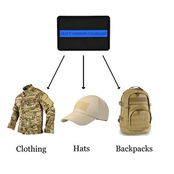 Great 1 Products Airsoft Morale Patch 4 Great 1 Products American Flag Patch Set, 2x3 inch, Flexible PVC Material, Hook and Loop, Military and Tactical Accessory for Clothing-Jackets-Hats-Backpacks (Thin Blue Line Set 2)