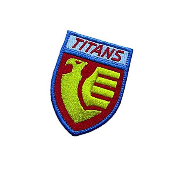 Embroidery Patch Airsoft Morale Patch 3 Titans Gundam Military Hook Loop Tactics Morale Embroidered Patch