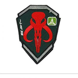 Kseen Airsoft Morale Patch 1 Bounty Hunter Embroidered Boba Fett Shield Patch Tactical Morale Applique Badge Patches with Fastener Hook and The Loop Backing Shoulder Mark