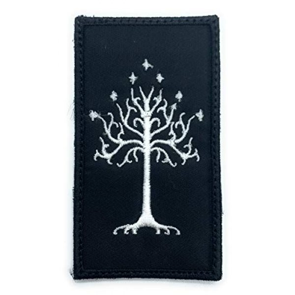 Almost SGT Airsoft Morale Patch 1 Tree of Gondor Lord of The Rings - Funny Tactical Military Morale Embroidered Patch Hook Backing