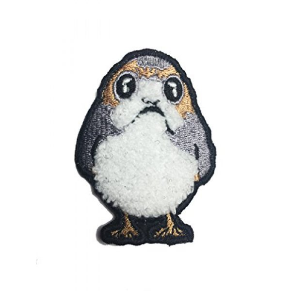 Empire Tactical USA Airsoft Morale Patch 1 The Star Wars EMBROIDERED Porg Plush fuzzy morale patch