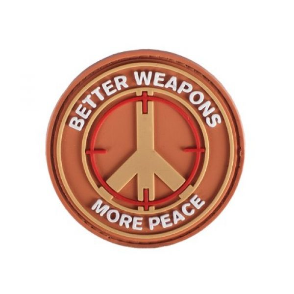 """A-Plus Trading Airsoft Morale Patch 1 PVC IFF Velcro Morale Patch - """"Better Weapons More Peace"""""""