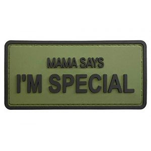 """G-Force Airsoft Morale Patch 1 G-Force """"Mama Says I'm Special PVC Morale Patch (Green)"""