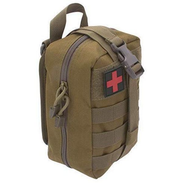 ASATechmed Tactical Pouch 3 ASATechmed Tactical Military MOLLE EMT First Aid IFAK Utility Medical Pouch Plus Free Matching Color EMT Shears Ideal Gift for First Responder, EMT, Paramedics, Soldiers, Police and Many More