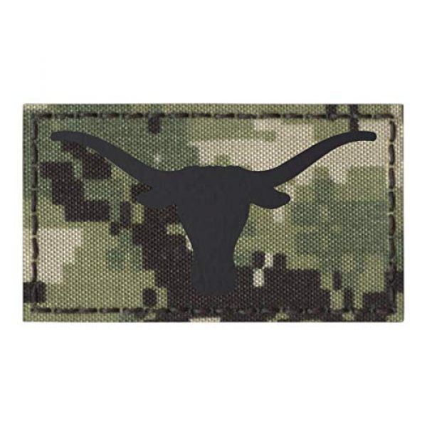 Tactical Freaky Airsoft Morale Patch 1 IR Texas Longhorn AOR2 NWU Type III Infrared 2X3.5 IFF Tactical Morale Hook&Loop Patch