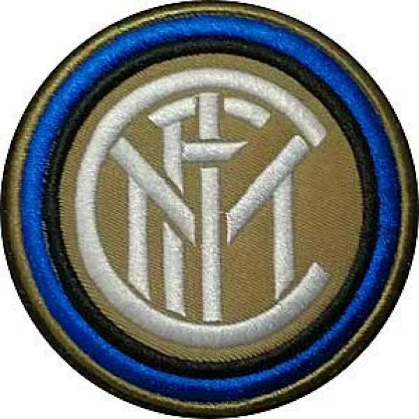 Embroidery Patch Airsoft Morale Patch 1 Italy Inter Milan Football Soccer Club Military Hook Loop Tactics Morale Embroidered Patch
