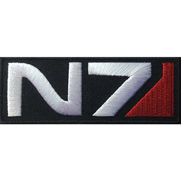 Falkon Tactical Airsoft Morale Patch 1 Hook Mass Effect N7 Logo Embroidered Tactical Morale Jacket Patch