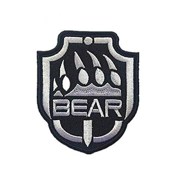Embroidery Patch Airsoft Morale Patch 1 Escape from Tarkov Bear Military Hook Loop Tactics Morale Embroidered Patch