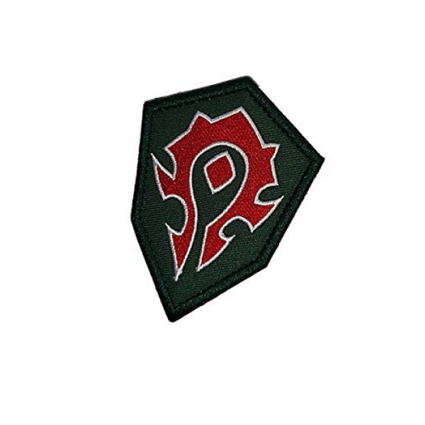 Embroidery Patch Airsoft Morale Patch 3 World of Warcraft Horde Military Hook Loop Tactics Morale Embroidered Patch (color2)