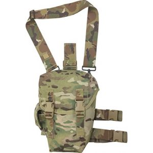 Fire Force Tactical Pouch 1 Fire Force Item # 8101 Drop Leg Gas Mask Pouch with Quilted Padded Back Made in USA