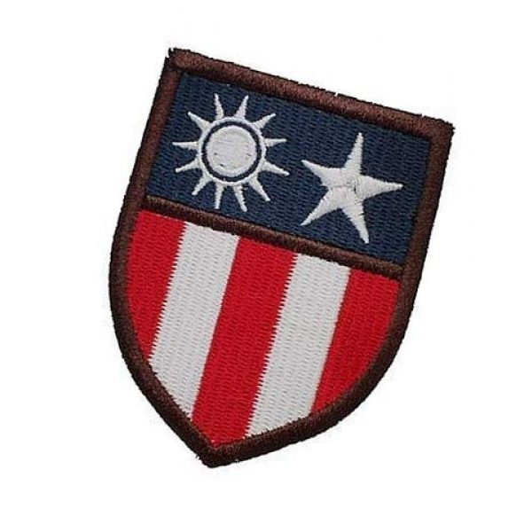 Embroidery Patch Airsoft Morale Patch 3 The Hump WWII 14TH USAAF Flying Tigers CBI China-Burma-India Theater Insignia Military Hook Loop Tactics Morale Embroidered Patch (color2)