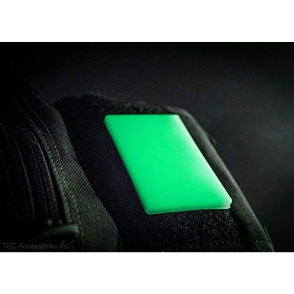 "TEC Accessories Airsoft Morale Patch 6 Embrite BEACON Morale Patch - 2"" x 3"" glow in the dark Velcro attachment"