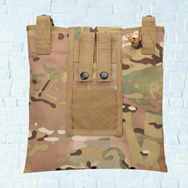BESPORTBLE Tactical Pouch 5 BESPORTBLE Molle Utility Pouch Recycling Bag Vest Accessory Sundries Storage Field Equipment Holder for Cs Game Paintball Hunting (ACU Style)
