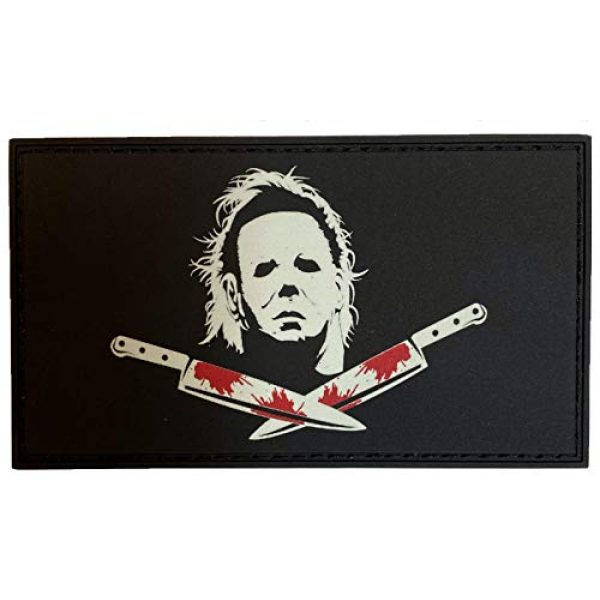 F-Bomb F Morale Gear Airsoft Morale Patch 1 Glow in The Dark - Michael Myers, Halloween - PVC Morale Patch