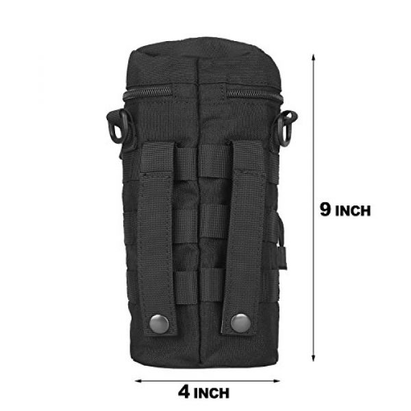 AMYIPO Tactical Pouch 3 AMYIPO Tactical MOLLE Water Bottle Pouch Holder Storage Bag for 32oz Carrier