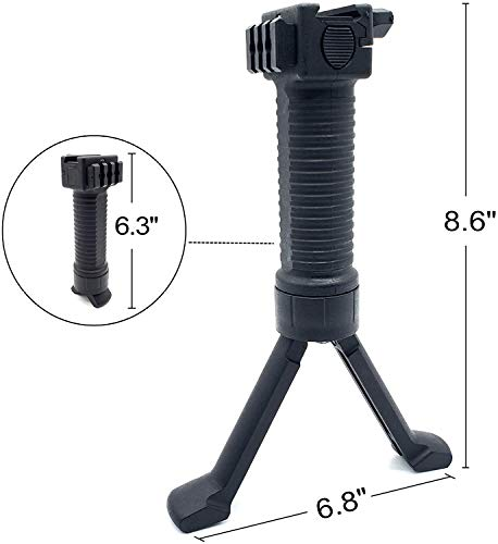 SONOVEL Airsoft Gun Bipod 2 SONOVEL Bipod 6-9 InchesMonopods Bipods for Hunting Foldable Legs Adjustable Monopods