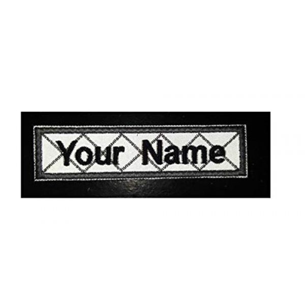 DREAM ARMY Airsoft Morale Patch 2 Reflective Gray Custom Name Text Biker Motorcycle Morale Patch Hook Backing 4x1 inch