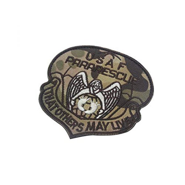 DPAINTouscap Airsoft Morale Patch 3 USAF Airborne Paratrooper Pararescue Tactical Patches Embroidered Military Patch Morale Patches